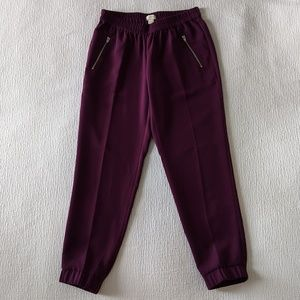 JCrew Dressy Ankle Pants - Deep Purple